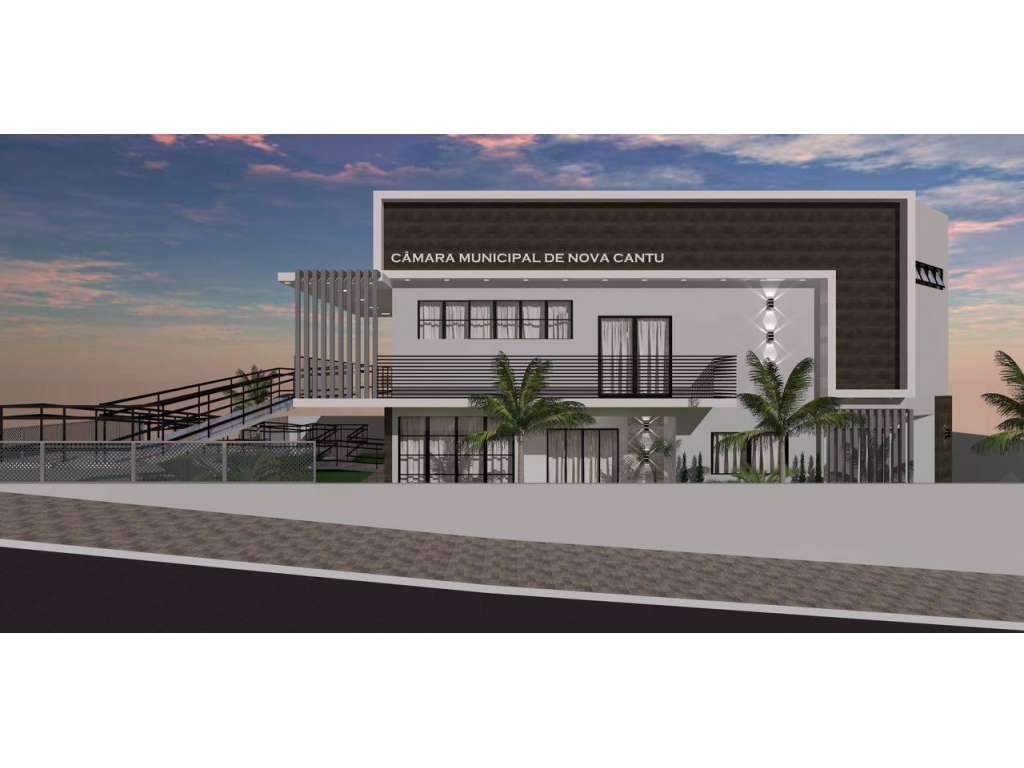 Prefeito Assina convênio para construção do novo prédio da Câmara Municipal de Vereadores de Nova Cantu; - Galeria de Imagens