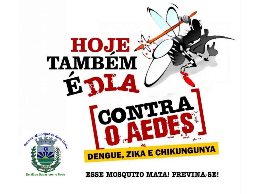 A secretaria de Saúde de Nova Cantu conta com todos para o combate a dengue - Galeria de Imagens
