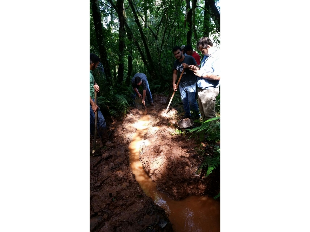 Emater e Secretaria de Agricultura Realizaram Proteção de Nascente em Comemoração ao Dia da Água - Galeria de Imagens