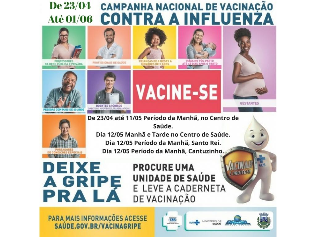 Campanha de vacinação contra gripe começa no dia 23 de abril - Galeria de Imagens