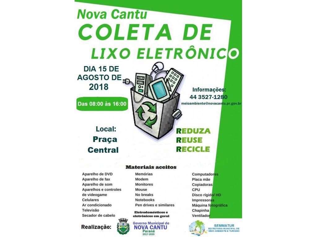 Coleta de Lixo Eletrônico dia 15 de Agosto - Galeria de Imagens