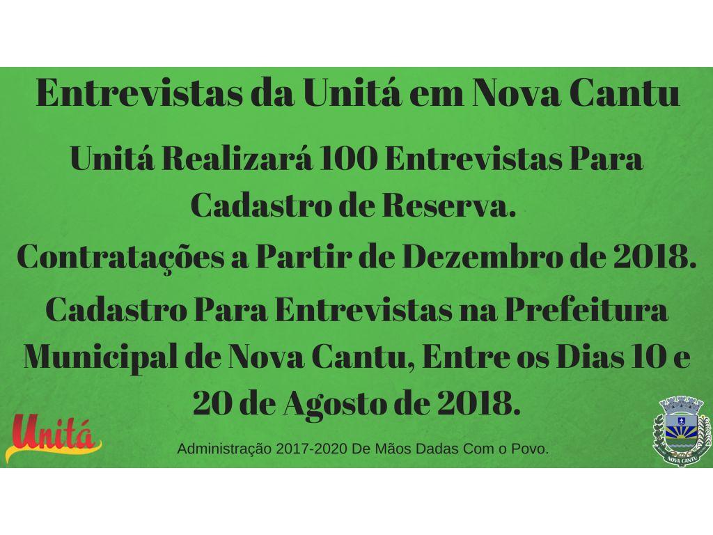 Entrevistas da Unitá em Nova Cantu - Galeria de Imagens