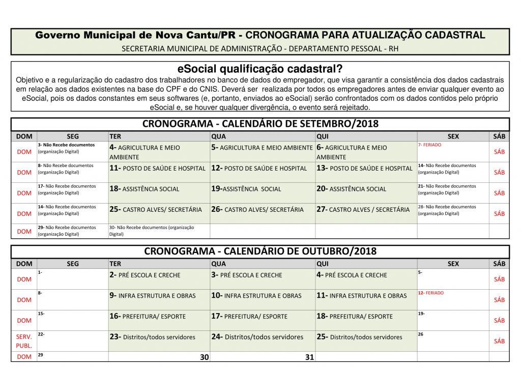 Servidor Público Fique Atento ao Cronograma de Cadastro do Sistema eSocial - Galeria de Imagens