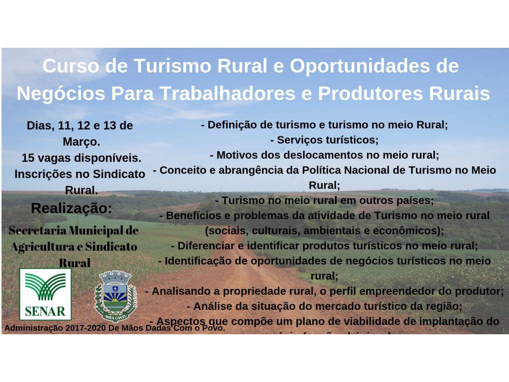 Curso de Turismo Rural e Oportunidades de Negócios Para Trabalhadores e Produtores Rurais - Galeria de Imagens