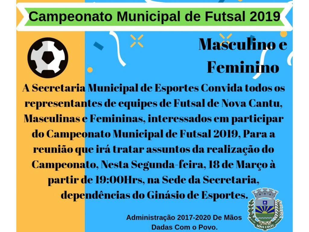 Campeonato Municipal de Futsal 2019, Masculino e Feminino - Galeria de Imagens