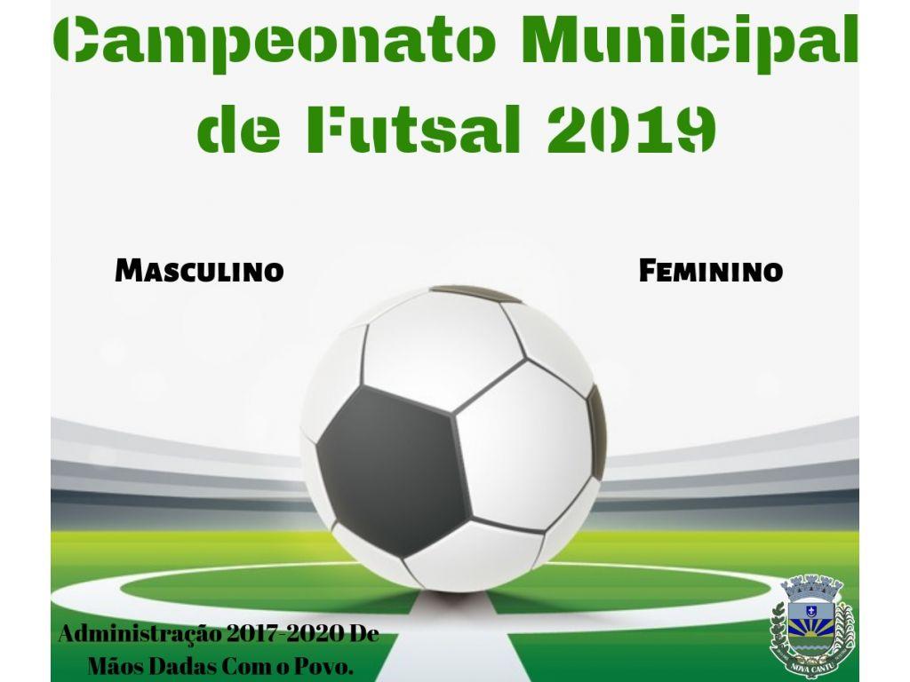 Campeonato Municipal de Futsal Masculino e Feminino 2019 Iniciará dia 09 de Abril - Galeria de Imagens