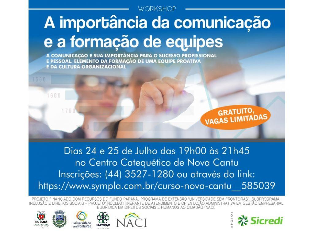 CURSO A IMPORTÂNCIA DA COMUNICAÇÃO E A FORMAÇÃO DE EQUIPES - Galeria de Imagens