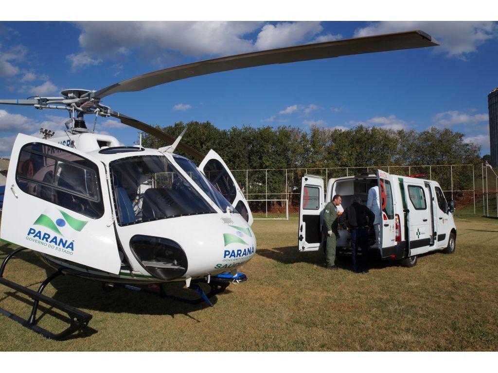 SAMU Realiza Resgate Aeromédico em Nova Cantu - Galeria de Imagens