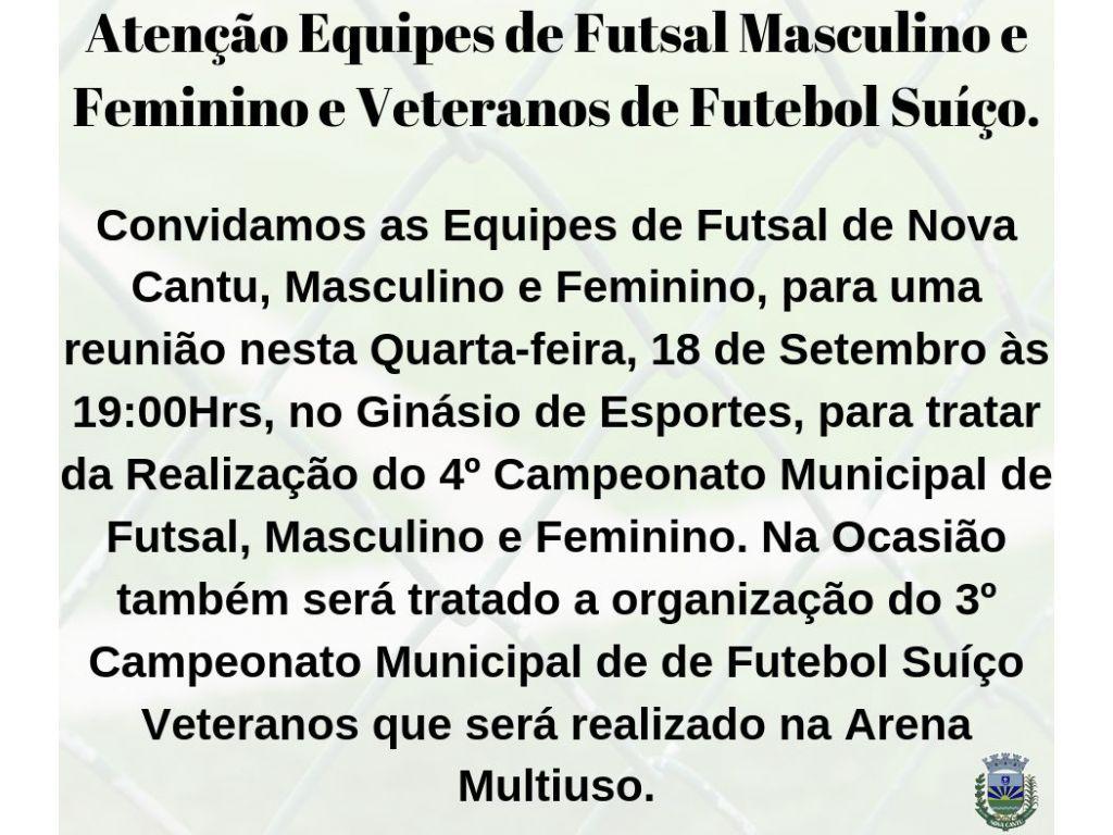 Vem ai 4º Campeonato Municipal de Futsal Masculino e Feminino e o 3º de Veteranos - Galeria de Imagens