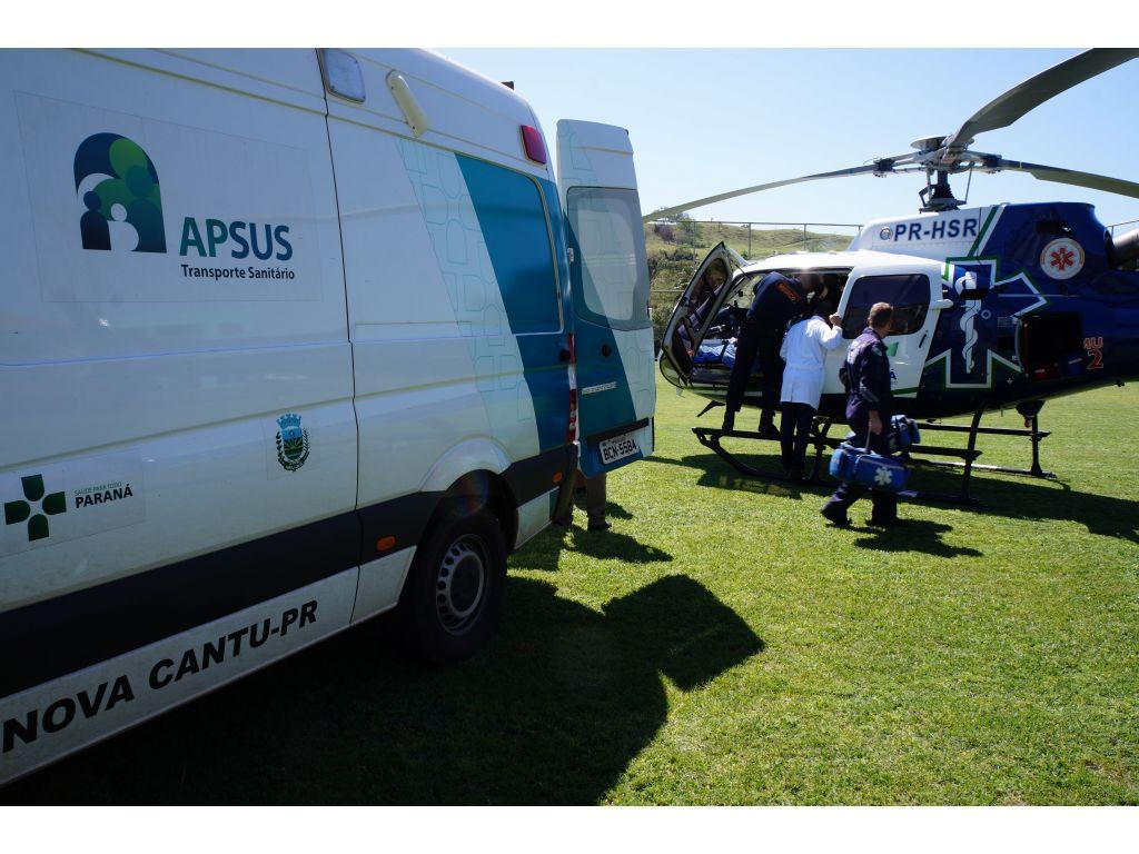 SAMU Realiza Novo Resgate Aeromédico em Nova Cantu - Galeria de Imagens