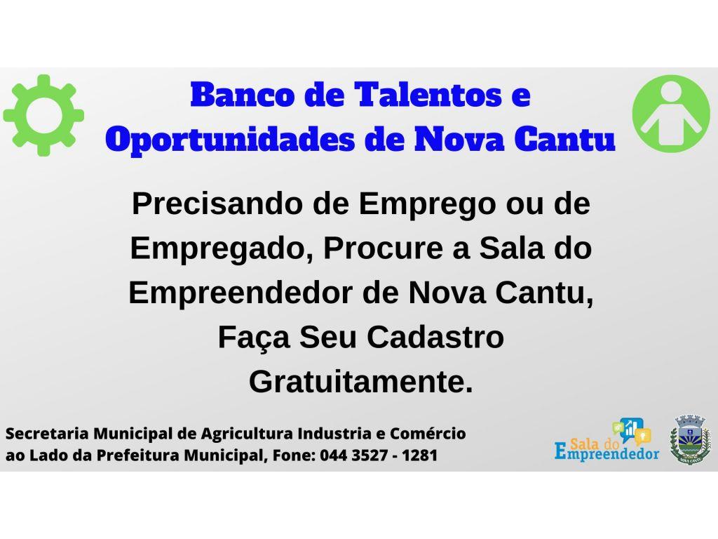 Banco de Talentos e Oportunidades de Nova Cantu! - Galeria de Imagens