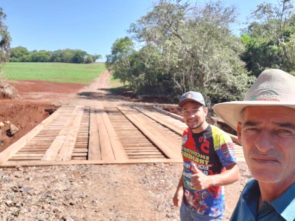 Concluída Nova Ponte Sobre o Rio Tricolor entre Nova Cantu e Mamborê - Galeria de Imagens